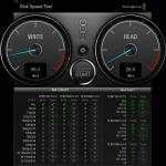 DiskSpeedTest 2T4 Firewire 800 Drive